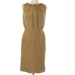 Boden Limited Edition Gold Silk Dress Size 6